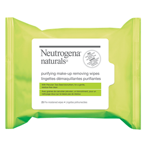 NEUTROGENA NATURALS® Purifying Make-Up Removing Wipes