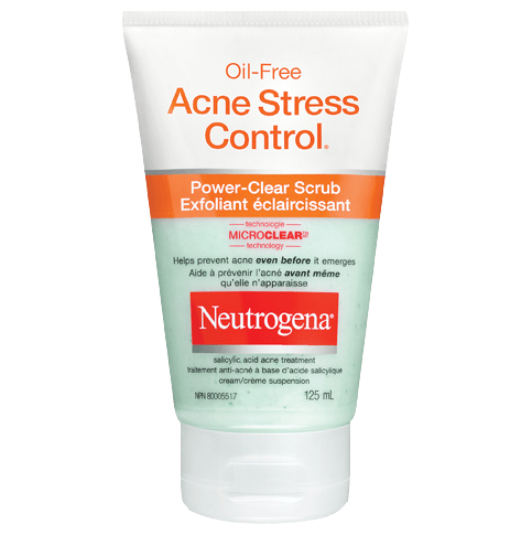 NEUTROGENA® OIL-FREE ACNE STRESS CONTROL® Power-Clear Scrub