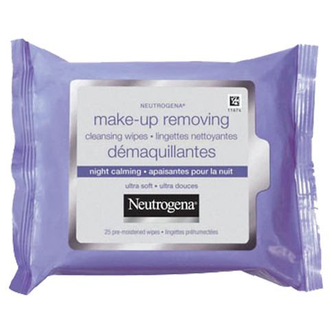 NEUTROGENA® Make-Up Removing Cleansing Wipes Night Calming (25ct, Twin Pack)