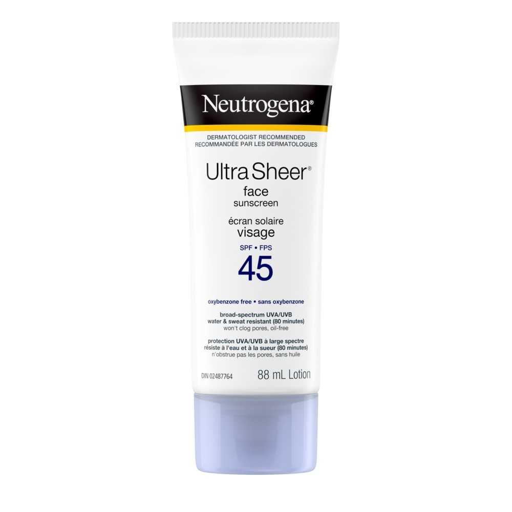 NEUTROGENA® ULTRA SHEER® Face Sunscreen SPF 45