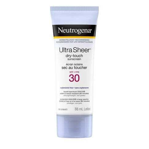 Écran solaire Neutrogena Ultra Sheer Sec au toucher FPS 30, tube, 88ml