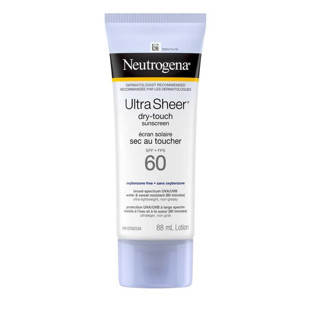Écran solaire Neutrogena Ultra Sheer FPS 60, tube, 88 ml