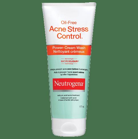NEUTROGENA® OIL-FREE ACNE STRESS CONTROL® Power-Cream Wash