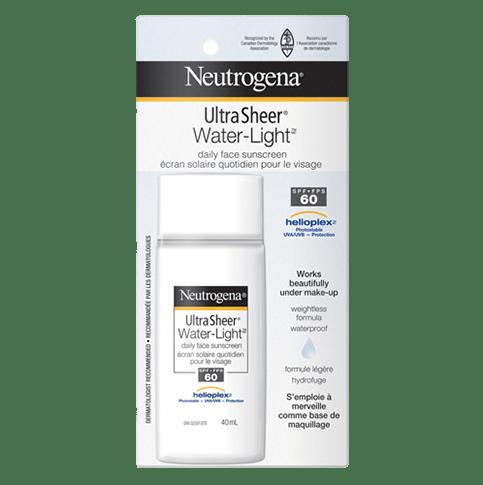 NEUTROGENA® ULTRA SHEER® WATER-LIGHT® Daily Face Sunscreen SPF 60