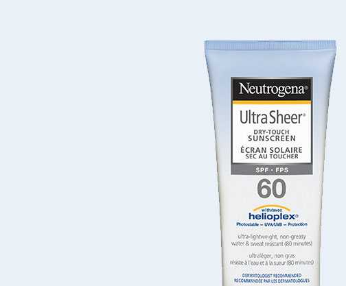 NEUTROGENA® Ultra Sheer SPF 60 Face splashing in water