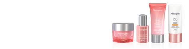 Banner with 4 Neutrogena Bright Boost Products, 30ml -75ml