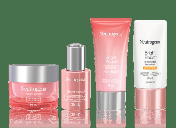 4 Neutrogena Bright Boost Moisturizing Products, 30ml-75ml