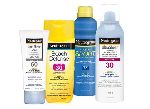 NEUTROGENA® Helioplex® Broad Spectrum UVA-UVB Products