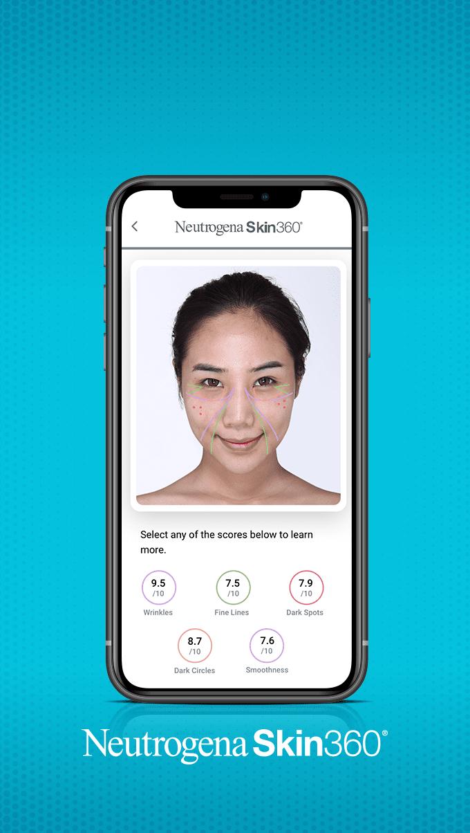 Image showing the Neutrogena Skin360 Application