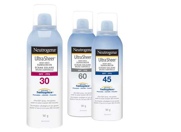 NEUTROGENA® ULTRA SHEER® Spray Product Family