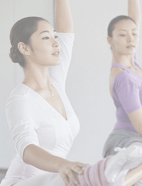Femmes pratiquant le ballet