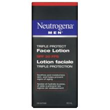 NEUTROGENA®MEN® Triple Protect Face Lotion SPF 20