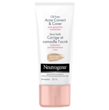 NEUTROGENA® OIL-FREE Acne Correct & Cover Fair-Light Pink Grapefruit Moisturizer