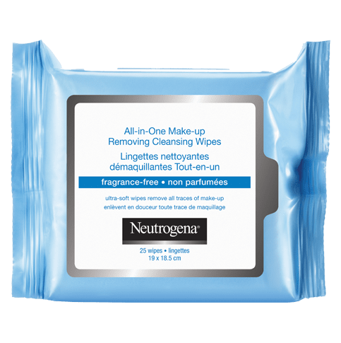 NEUTROGENA® ALL-IN-ONE Make-Up Removing Cleansing Wipes Fragrance-Free (25ct, Twin Pack)