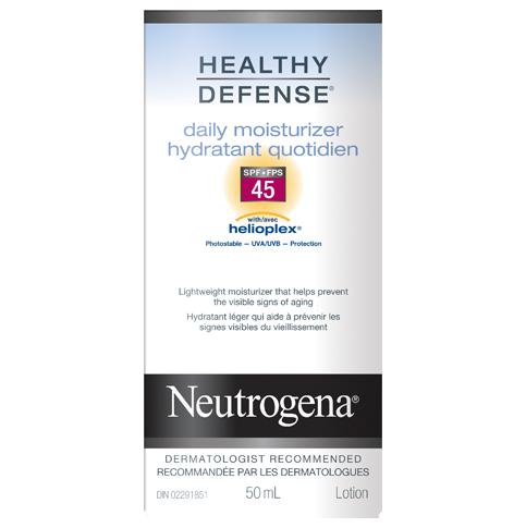 NEUTROGENA®HEALTHY DEFENSE® Daily Moisturizer SPF 45