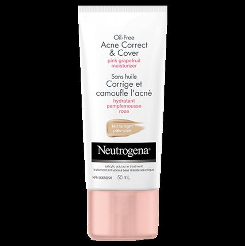 NEUTROGENA®OIL-FREE Acne Correct & Cover Fair-Light Pink Grapefruit Moisturizer