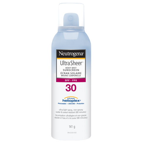 NEUTROGENA® ULTRA SHEER® Body Mist Sunscreens SPF 30