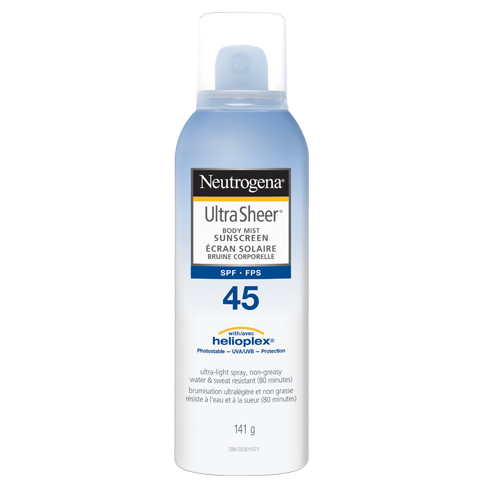 NEUTROGENA® ULTRA SHEER® Body Mist Sunscreens SPF 45