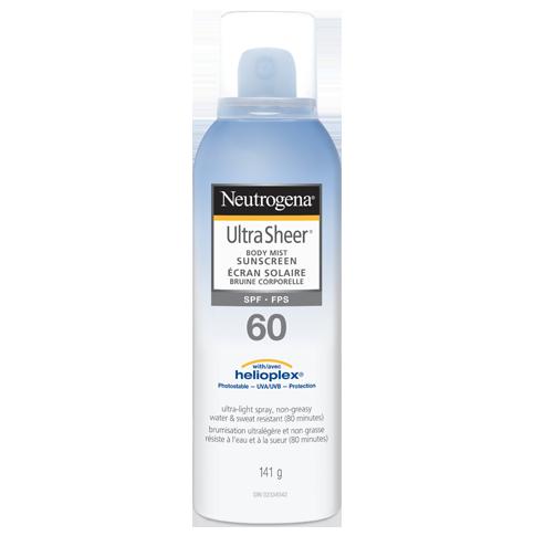 NEUTROGENA® ULTRA SHEER® Body Mist Sunscreens SPF 60