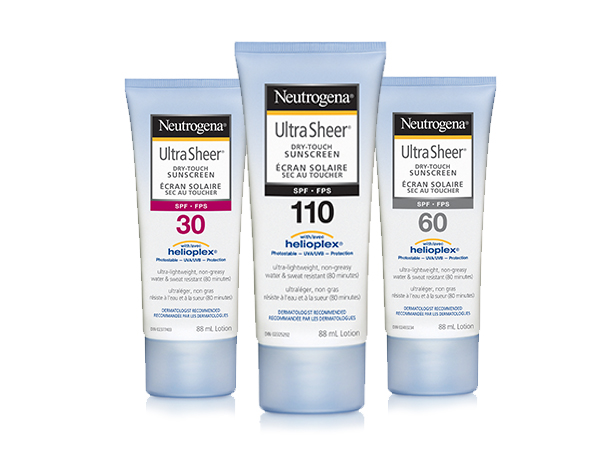 NEUTROGENA® ULTRA SHEER® Product Family