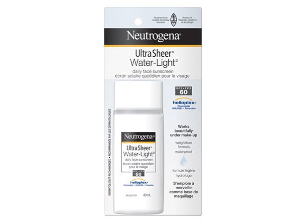 NEUTROGENA® ULTRA SHEER® WATER-LIGHT® Daily Face Sunscreen SPF 60