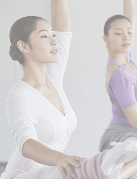 Women practicing Ballet